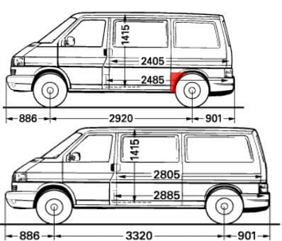 transporter t4 skarda pries galini rata, multivan vw skarda pries rata, caravelle ratu skardos