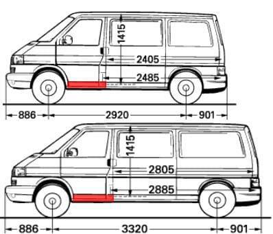 transporter t4 vw slenksciai rpeikiniu duru, caravelle slenksciai duru, multivan slenksciai