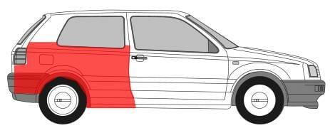 VW Golf 3 1991- 1998 Galinis sparnas, VW Golf 3 sparnas,VW Golf 3 sparnai,VW Golf 3 wings ,VW Golf 3 galiniai sparnai