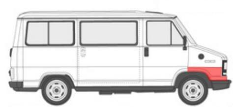 citroen c25 priekinės arkos, peugeot j5 priekinės arkos, fiat ducato priekinės arkos,Fiat Ducato/Peugeot J5/Citroen C25 (1981- 1990) Priekinio sparno arka, Fiat Ducato/Peugeot J5/Citroen C25 arkos