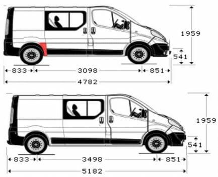 Renault Trafic/Opel Vivaro/Nissan Primastar (2001- 2014) galinio sparno skarda