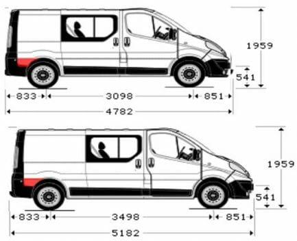 Renault Trafic/Opel Vivaro/Nissan Primastar (2001- 2014) Dalis uz galinio rato