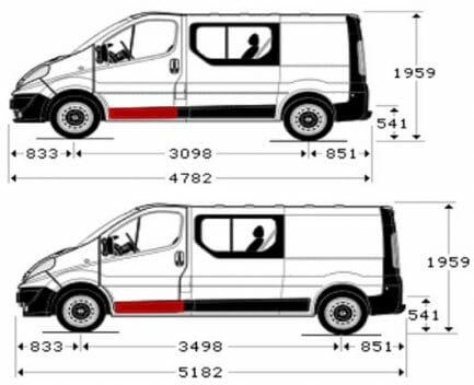 Renault Trafic/Opel Vivaro/Nissan Primastar 2001- 2014 Priekinių durų lovys, Renault Trafic/Opel Vivaro/Nissan Primastar 2001 duru vidus